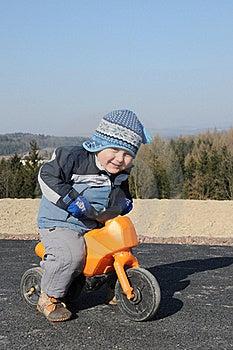 Child Riding Motorbike Stock Image - Image: 18630491