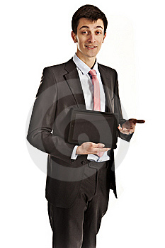 Businessman Giving Presentation Royalty Free Stock Image - Image: 18630696
