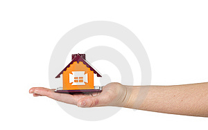 Little House On The Hand Stock Images - Image: 18631634