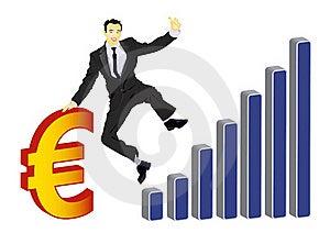Businessman Celebrating Euro Royalty Free Stock Image - Image: 18632106