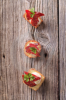 Tartlet Canapes Stock Images - Image: 18632594