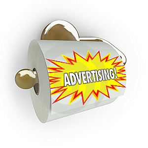 Traditional Advertising Ineffective - Toilet Paper Royalty Free Stock Photos - Image: 18633598