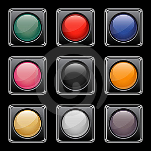Glossy Buttons Set Stock Photos - Image: 18634263