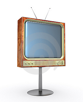 Retro TV Royalty Free Stock Photography - Image: 18637107
