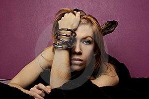 Beautiful Woman On A Fashion Style Stock Photography - Image: 18637422