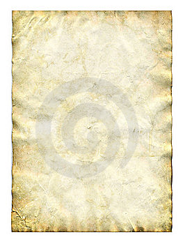 Old paper isolated on white Royalty Free Stock Photo