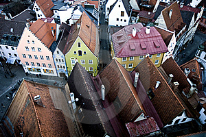 Aerial View To Fussen, Germany Royalty Free Stock Images - Image: 18638819