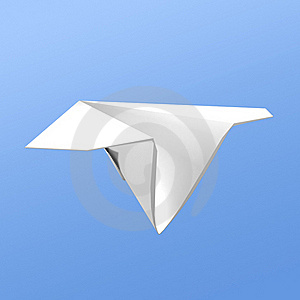 Paper Airplane Royalty Free Stock Photos - Image: 18642688