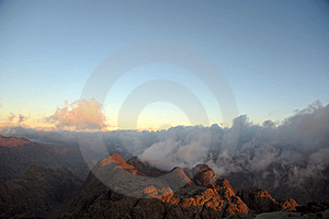 Mountains, Shrouded In Clouds Royalty Free Stock Photography - Image: 18643397