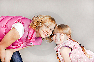 Portrait Of Two Young Beautiful Girls Smiling Royalty Free Stock Photo - Image: 18646835