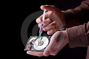Hard Disc Repairing Royalty Free Stock Photo - Image: 18647595