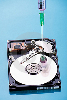 Hard Disc Repairing Stock Image - Image: 18647601
