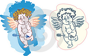 Naked Cupid With An Arrow Royalty Free Stock Photos - Image: 18648618