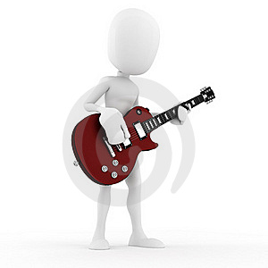 3d Man Guitar Player Music Star Stock Photos - Image: 18649553