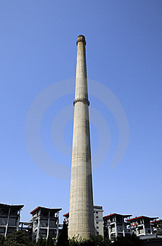 Chimney Of Power Station Stock Photo - Image: 18651510
