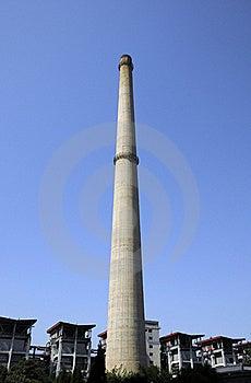 Chimney Of Power Station Stock Photo - Image: 18651510