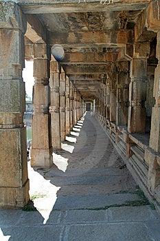 Stone Pillared Corridor Royalty Free Stock Photo - Image: 18651665