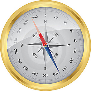 Golden  Vector Compass Royalty Free Stock Images - Image: 18658799