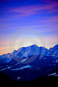 Earliy Morning At The Alps Stock Photos - Image: 18659483