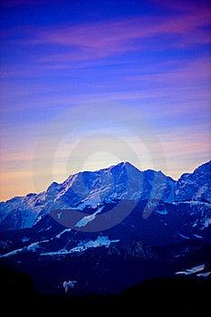 Earliy Morning At The Alps Stock Photos - Image: 18659483