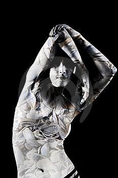 Woman Seashell Texture Photocollage Stock Photos - Image: 18660233