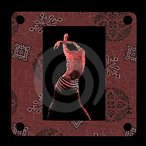 Framed Red Skin Woman Photomontage Royalty Free Stock Image - Image: 18661366