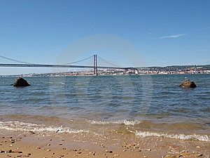 Tagus River And The 25th April Bridge Stock Photography - Image: 18661592