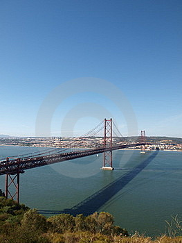 25th April Bridge Across Tagus River Royalty Free Stock Photo - Image: 18661595