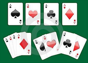 Four Aces Playing Cards Set Stock Image - Image: 18661641
