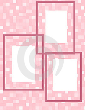 Pink Cubes Frame Collage Royalty Free Stock Photo - Image: 18662365