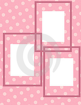 Pink Polka Dot Photo Collage Royalty Free Stock Photography - Image: 18662417