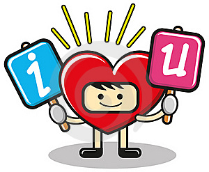 Funny Heart Royalty Free Stock Image - Image: 18666266