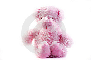 Pink fluffy pig Royalty Free Stock Photos