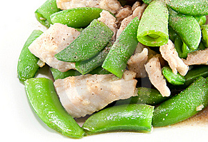 Fried Pea And Pork Thai Style Royalty Free Stock Photography - Image: 18667017