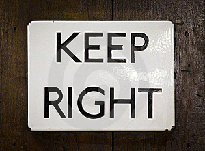 Keep Right Stock Images - Image: 18672444