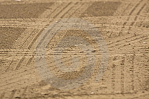 Car Traces Stock Images - Image: 18675224