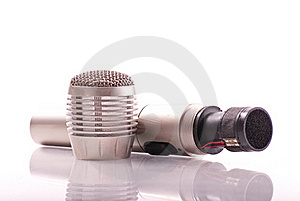 Uni-Directional Microphone Royalty Free Stock Photography - Image: 18676767