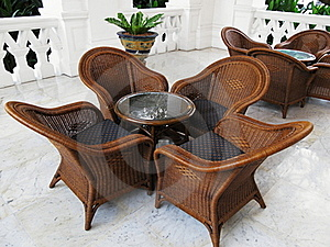 Coffee Table And Chairs In The Tropics Stock Photography - Image: 18677612