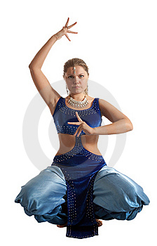 Woman Sit In Oriental Arabian Costume Royalty Free Stock Photography - Image: 18678097