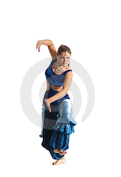 Woman Dance In Traditional Arabia Costume Royalty Free Stock Images - Image: 18678139