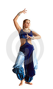 Woman Dance In Traditional Arabia Costume Royalty Free Stock Image - Image: 18678166