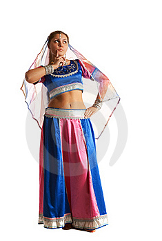 Woman Posing In Arabian Costume Royalty Free Stock Image - Image: 18678186