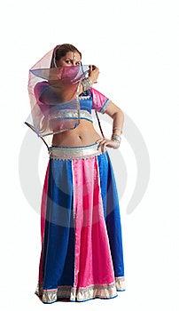 Woman Posing In Arabian Costume Stock Photo - Image: 18678230