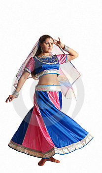 Woman Dance In Motion - Oriental Arabian Costume Royalty Free Stock Photo - Image: 18678245