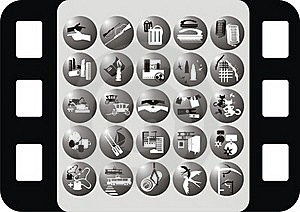 Icon On The Profession Royalty Free Stock Images - Image: 18679099
