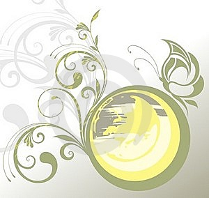 Illustration With Butterfly Royalty Free Stock Photography - Image: 18679897