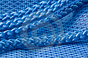 Blue Fabric And Rope Stock Photography - Image: 18680492