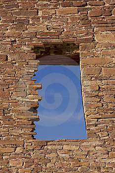 Window, Chaco Culture National Historic Site Royalty Free Stock Photos - Image: 18681468