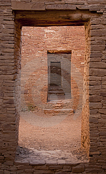 Doorway Chaco Culture National Historic Site Royalty Free Stock Images - Image: 18681509