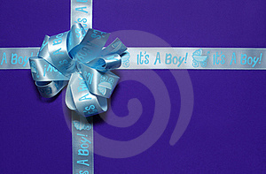 Tied Gift Light Blue Ribbon Stock Images - Image: 18682054